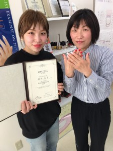長谷川浩子さん卒業写真